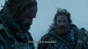 game of thrones gingers are beautiful