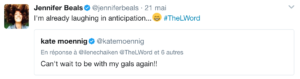 tweet jennifer beals laughing in anticipation